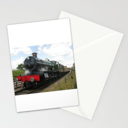 Vintage steam engine railway train Stationery Cards
