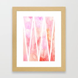 Flaming Triangles Framed Art Print