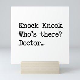 Knock-Knock 2 Mini Art Print