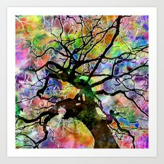 Frosted Tree Art Print