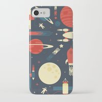 stickers iPhone & iPod Cases featuring Space Odyssey by Tracie Andrews