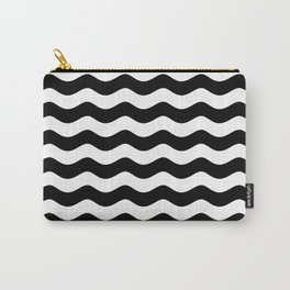 WAVES (BLACK & WHITE) Carry-All Pouch