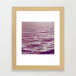 Pink Waves Framed Art Print