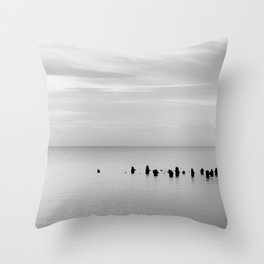 BEACH DAYS XXVIII BW Throw Pillow