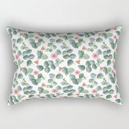 Gorgeous Eucalyptus Flowers Leaves Pattern Rectangular Pillow