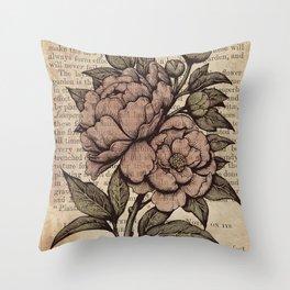 Peonies  - Color Throw Pillow