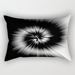 TIE DYE #1 (Black & White) Rectangular Pillow