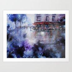 Paris painting - La Marine Art Print