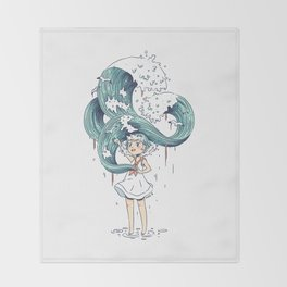 Daughter of the Sea Throw Blanket