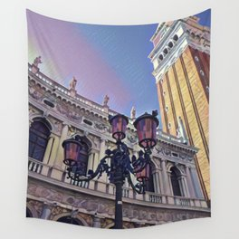 Campanile on the Piazza San Marco Wall Tapestry