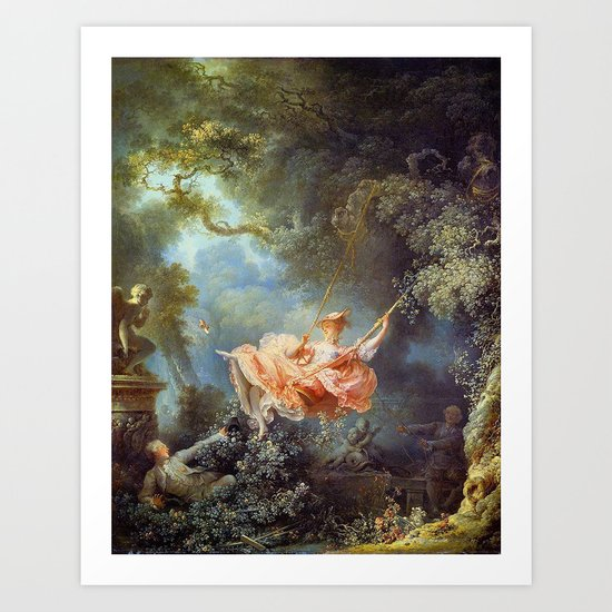 Jean-Honoré Fragonard - The Swing by famouspaintings