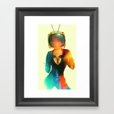 SEX ON TV - GOLDEN PUSSYCAT by ZZGLAM Framed Art Print