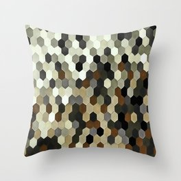 Honeycomb Pattern In Neutral Earth Tones Throw Pillow