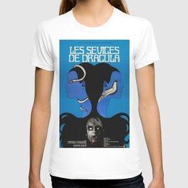 Vintage Horror film poster -Twins of Evil (1971) T-shirt