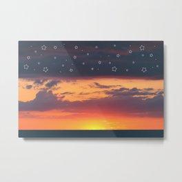 Florida Sunset - Stars Metal Print