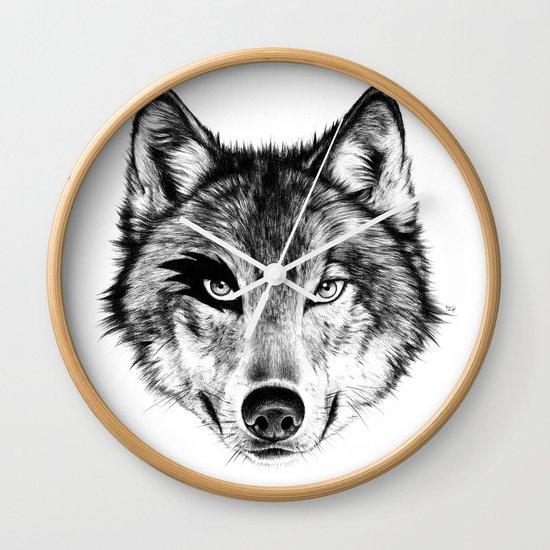 The Wolf Next Door Wall Clock