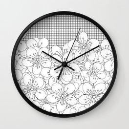 Cherry Blossom Grid - In Memory of Mackenzie Wall Clock