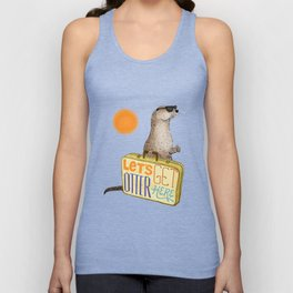 Let's Get Otter Here! Unisex Tank Top