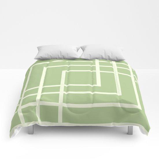Square - green Comforters