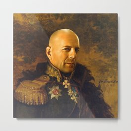 Bruce Willis - replaceface Metal Print