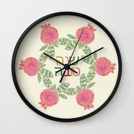 Pomegranate Judaica Wall Clock