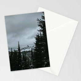 Mt Rainier Winter Scene Stationery Cards
