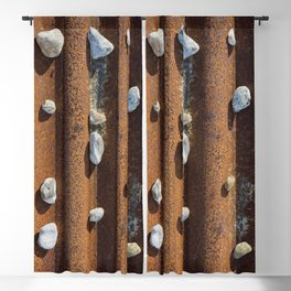 Pebbles on rust Blackout Curtain