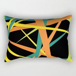 Yellow Fight Rectangular Pillow