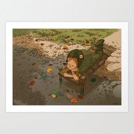 La rivière aux tortues Art Print