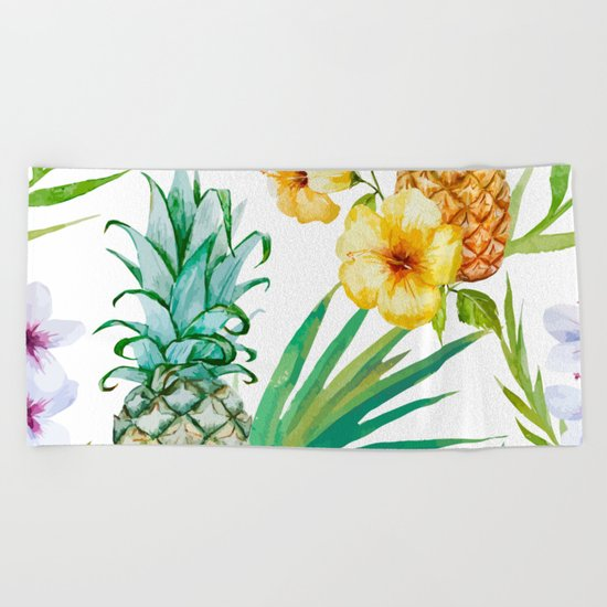 Pineapple Mood Beach Towel