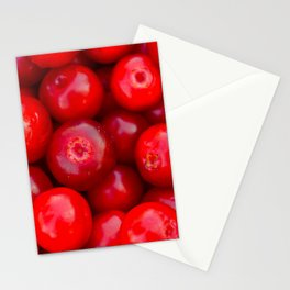 Lingonberry berry fruit background Stationery Cards