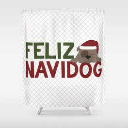 Feliz Navidog Shower Curtain