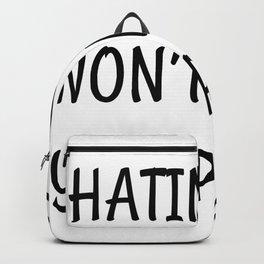 hating me won´t make you pretty hate prettier Backpack