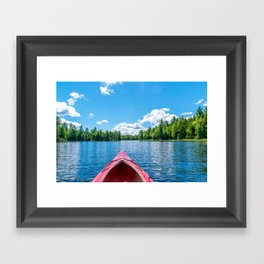 Just Keep Paddling Framed Art Print