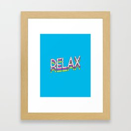 Relax Quote Framed Art Print