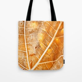 Burning Bokeh Leaf Tote Bag