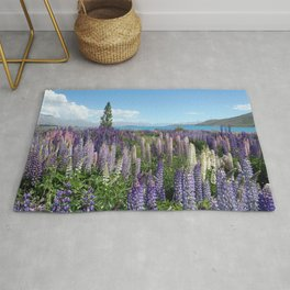 Colorful lupine towers Rug