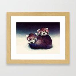 red pandas Framed Art Print