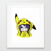 onesie Framed Art Prints featuring Onesie by VerticalSynapse