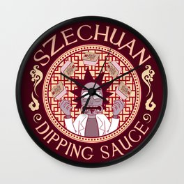 Szechaun Dipping Sauce Wall Clock