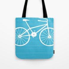 Blue Bike by Friztin Tote Bag