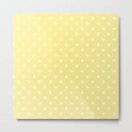 Buttermilk Yellow with White Polka Dots Metal Print