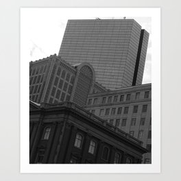 Architecture of Back Bay Art Print