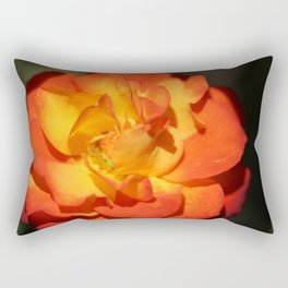 Orange Flower Rectangular Pillow