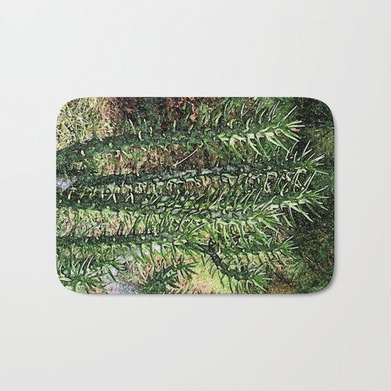Green cactus in the garden digital painting Bath Mat