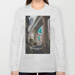 Hong Kong Street Bridge Long Sleeve T-shirt