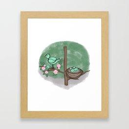 Baby Birds in a Tree Framed Art Print