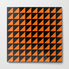 orange triangle Metal Print