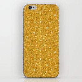 Gold glitter iPhone Skin