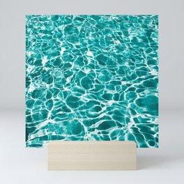 pool pattern water Mini Art Print